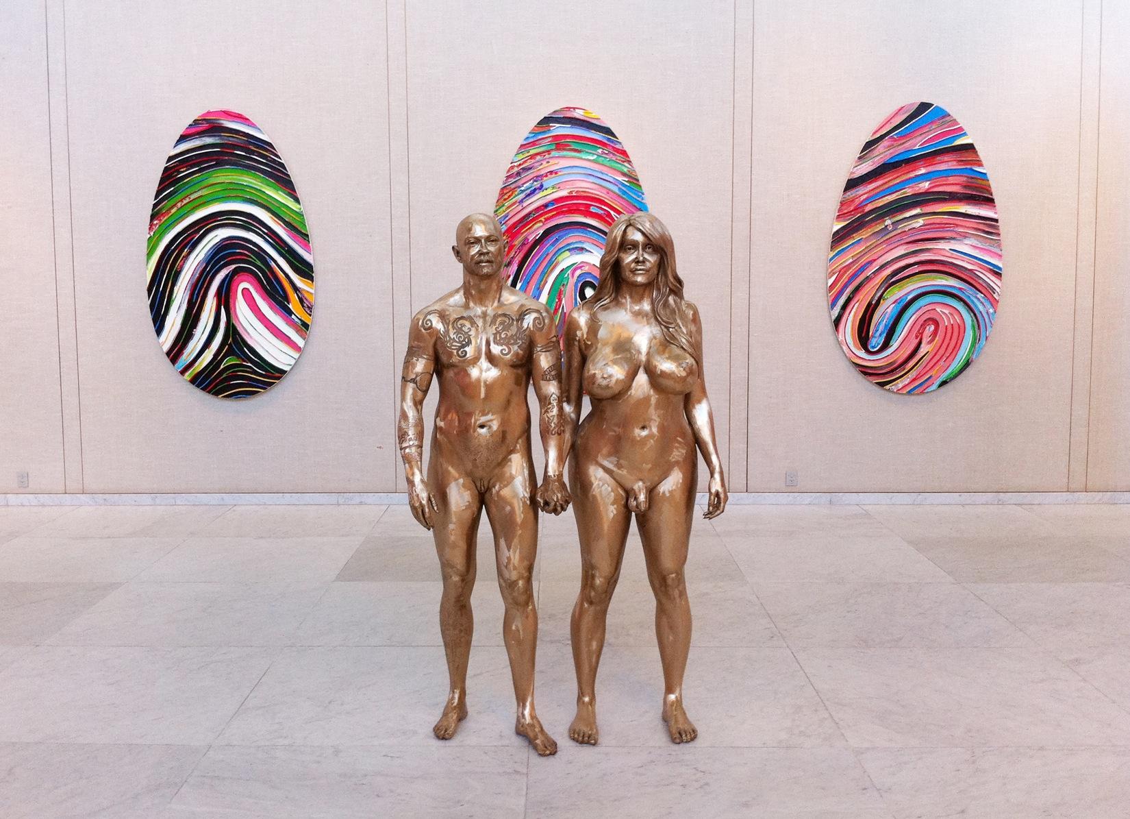 Mar Quinn transgender bronze sculptures
